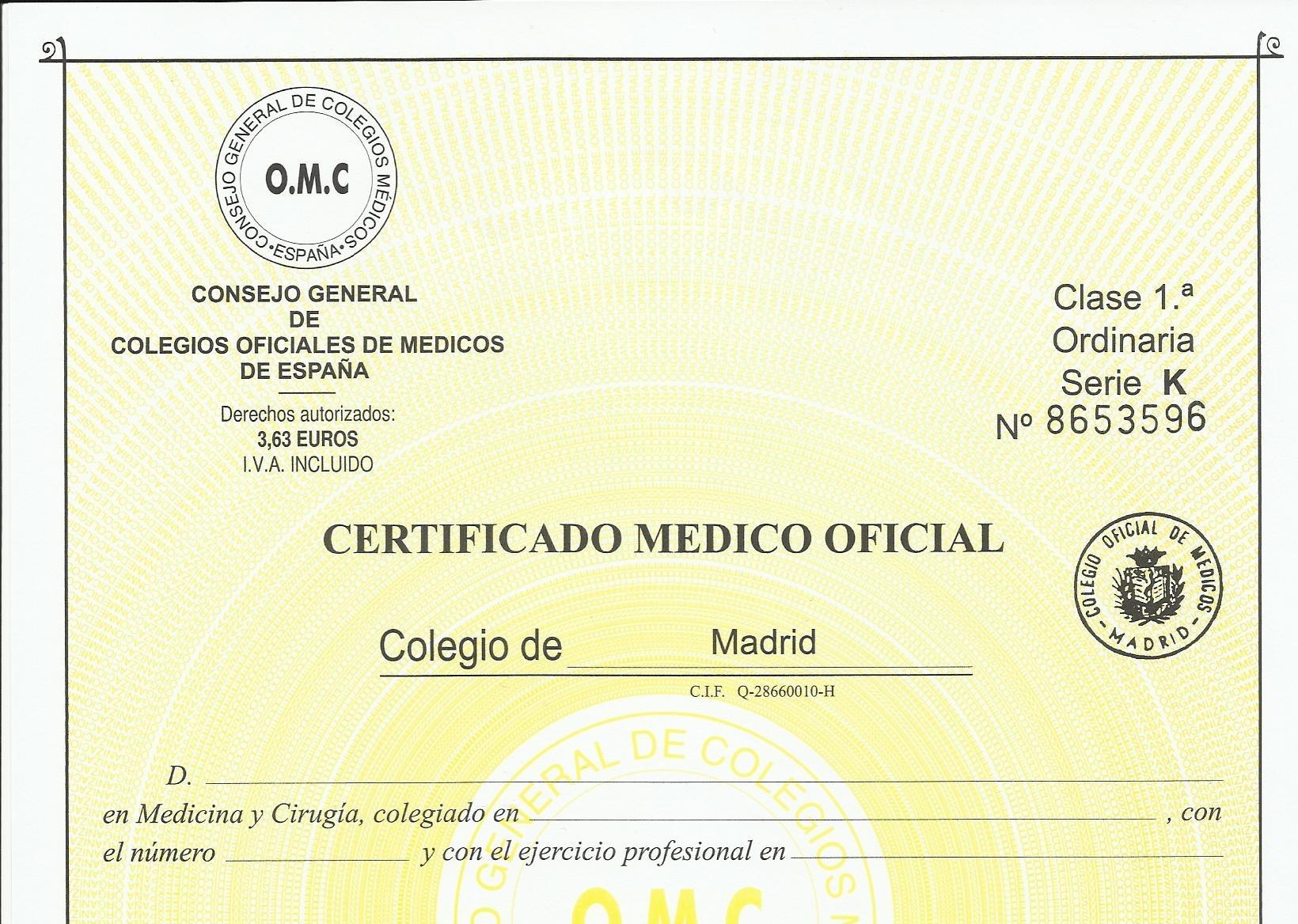 certificado medico pesca submarina