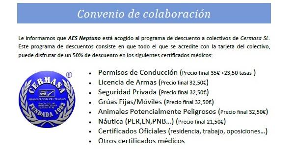 certificado médico licencia pesca submarina buceo barato